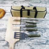 Для использования вне помещений кухонные приспособления для барбекю аксессуары из дерева в стиле барбекю Джилл набор фартука