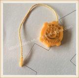 Tag plástico da selagem do fechamento da corda do Tag do cair do logotipo do vestuário do OEM