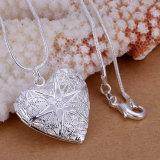 Chaîne pendante de collier de serpent de bijou de collier plaquée par argent en laiton de mode