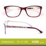 De Glazen van de Frames van de Acetaat van de bril met Ce (62-c)