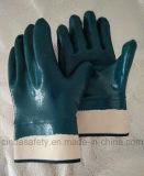 Нитрил полно покрыл сверхмощные перчатки работы безопасности доказательства масла