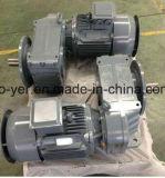 Reductor de engranajes helicoidales de eje paralelo de eje hueco de la serie F Caja de velocidades con motor eléctrico trifásico