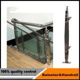 Edelstahl-hölzerner Treppenhaus-Handlauf für Innenjobsteps