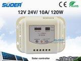 Controlador solar solar da carga do controlador 12V 10A da venda quente de Suoer para o uso Home (ST-G1210)