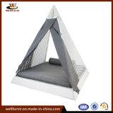 2018 Новый Белый треугольник кровать с водонепроницаемым шторки (WF050048)