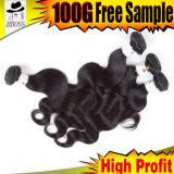 Weave brasileiro do cabelo louro da platina do Virgin de Remy