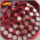 5capas 55mm de aleación de zinc Molinillo hierbas con asa para tubo de cigarrillos