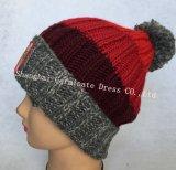 Мода теплый вязания Red Hat и шаль с Pompom (JYB334)