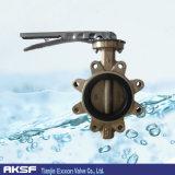 Бронза/чугуна/дуктильный тип клапан-бабочка волочения утюг/Wcb/150lb/Pn10/Pn16
