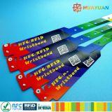 カスタマイズされるを用いる使い捨て可能なE切符NTAG213 RFIDのABSスマートなブレスレット印刷される