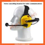 Шум отменяя желтый шлемофон шлемофона для двухстороннего радиоего