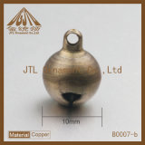 Venta caliente antigua de Belces del anillo de cobre amarillo de la calidad 10m m de la manera Niza
