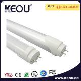 LED blanco cálido de 4000K T8 18W 1200mm fábrica de la luz del tubo/fabricante