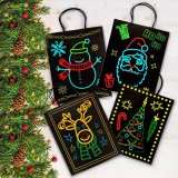 カスタムクリスマスの休日の一義的で明るいお祝いデザインの光暗いギフト袋、ギフトセット及びパターン