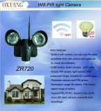 가장 새로운 Technology 30m Illumination Waterproof 720p Video Record WiFi Security Light Camera Zr720 Wireless Night Vision PIR Flood Light Camera