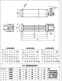 Alta eficiencia del motor del ventilador de la cruz de CA para el equipo de ventilación del elevador