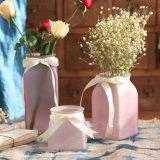 Vaso quadrato glassato decorazione domestica di vetro del cubo
