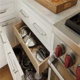 European Style Frameless Oak Wooden Kitchen Base Cabinet