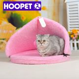 Camas de cachorro do triângulo Canopy Pink Cat House Tent Cat Bed