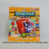 Folha de alumínio laminada saco de plástico de selagem lateral para brinquedos