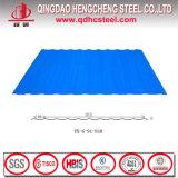 Feuille ondulée de toiture en métal de bonne couleur des prix PPGI