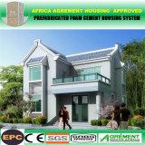 Chalet ligero plano de la estructura de acero de la abuelita prefabricada concreta de la casa de Australia