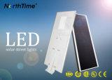 6W-120W telefone Smart Control alimentada a energia solar tudo-em-um Jardim Luz Solar