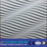 El panel de pared tallado 3D natural China-Hecho del MDF de la onda del MDF