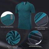 Preiswerter Polyesrter der Fertigung-Männer Sport-Breathable Gymnastik-Eignung-T-Shirt