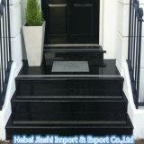 Wundervolle Treppenhaus-Entwurfs-Schwarz-Granit-Jobstepps für Innendekoration