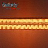 Revestimiento de oro de fibra de carbono de cuarzo lámpara tubo de calefactor de infrarrojos