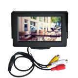 2AV 입력 TFT LCD 디스플레이 차양판 4.3 인치 차 모니터