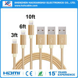 Color oro Cable USB para iPhone 7/8x5/6/