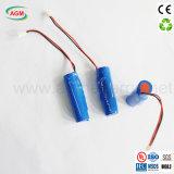 OEM Icr 18650 3.7V de Batterij van het Lithium 2600mAh (met PCM en draden)