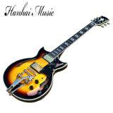 Guitare électrique de musique de Hanhai/jazz jaune (ES-335)