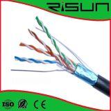 Câble approuvé de ftp Cat5e d'ETL/CE/RoHS/ISO 4 paires, solide, Lszh