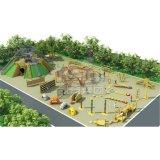 Kaiqiはカスタマイズした木シリーズ子供の屋外の運動場装置(KQ60071A)を