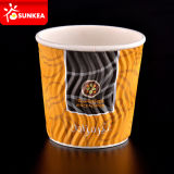 Diseño de color Wave Ripple Paper Cups