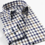 [منس] صبغ [كتّون رن] تدقيق طويلة كم قميص