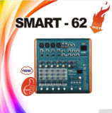 Professional 6 canaux Mini console de mixage audio Smart-62 DJ mixer