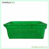 Empilhamento de plástico de alta qualidade Use frutas bandeja pão alimentos vegetais
