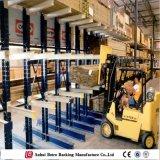 Los tubos de almacén de muebles de madera estantería Cantilever