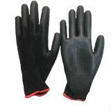 Полиэстер PU Перчатки рабочие перчатки для защиты рук рукавицы