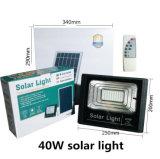 Luz de inundação psta solar recarregável ao ar livre do diodo emissor de luz 40W