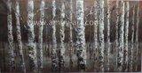 Blaue Birken-Baum-Landschaftsmesser-Ölgemälde-schweres Öl und struktureller Effekt