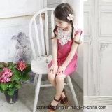 女の子の接続された袖なしの夏の服の子供の衣服