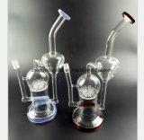 De rode en Blauwe Rokende Pijp van het Glas voor de Pijp van de Waterpijp van de Filter