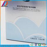 Caixa de empacotamento de papel da máscara facial lisa da forma