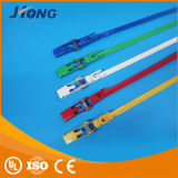 Plastic Coated 316 Steel Ladder Ties Attaches de câble en métal