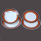 Ciotola di minestra di ceramica rotonda della tagliatella della pittura della mano